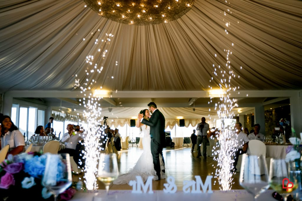 Fuochi dartificio matrimonio primo ballo
