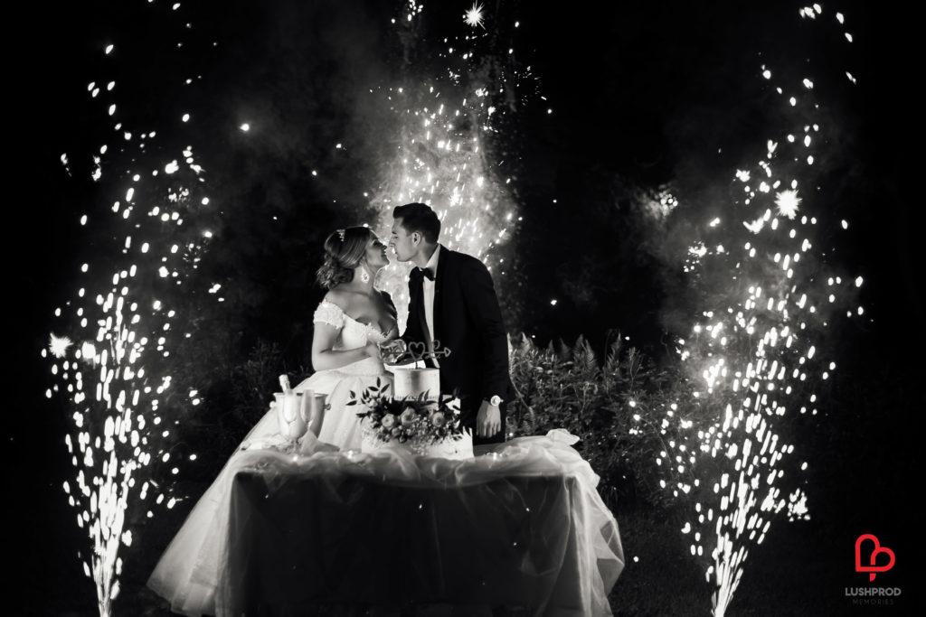fuochi dartificio torta nozze